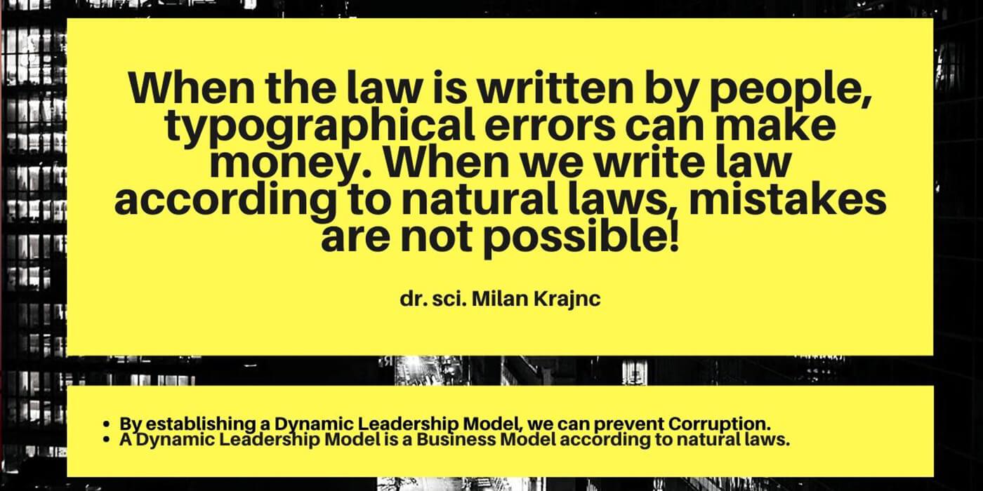 Korupcija, odraz vodenja države - Milan Krajnc
